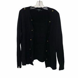 Torrid Black Button Sweater Cardigan 1X